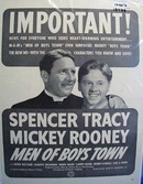 Black and white 1940's ad of Men of Boys Town