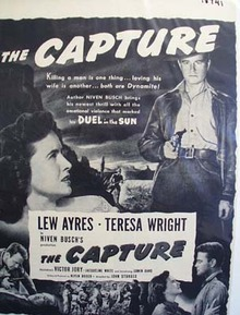 Black and white 1950 ad of The Capture