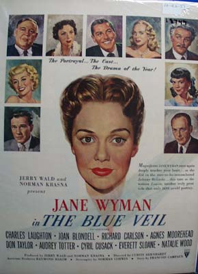 Color 1951 ad of In the Blue Veil