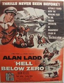 Color 1954 ad of Hell Below Zero starring Alan