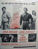 Black and white 1961 ad of The Last Sunset