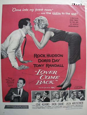 Color 1962 ad of Lover Come Back