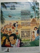 Color 1962 ad of Mutiny On The Bounty starring Marlon Brando