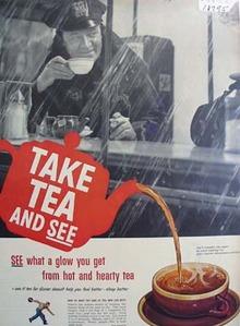 Tea council take tea and see Ad 1952.