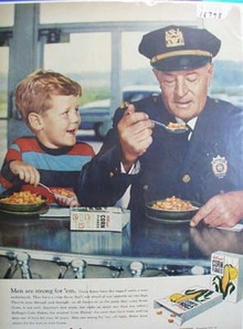 Kellogg's men are strong for 'em Ad 1956.