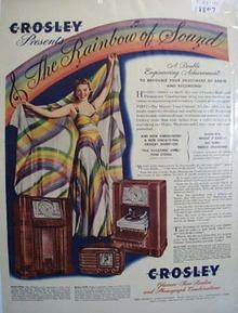 Crosley radios the rainbow of sound Ad 1941.