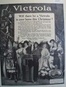 RCA Victrola bring one home this Christmas Ad 1920