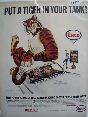 Enco put a tiger in your tank Ad 1964