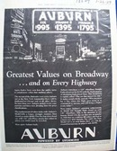 Auburn Auto Greatest Values Ad 1929