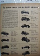 British Cars of 1946 Ad.  This is a July 1946