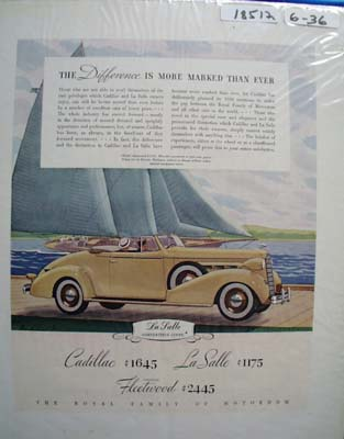 Cadillac The Difference Ad 1936