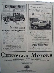 Chrysler Motors Motoring Moods Ad 1929