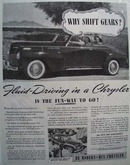 Chrysler Why Shift Gears Ad 1940