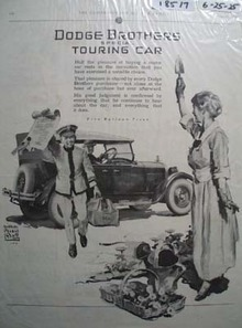 Dodge Brothers Touring Car Ad 1925