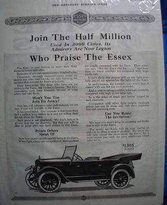Essex Join the Half Million Ad 1919