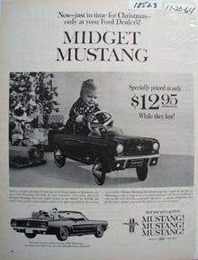 Midget Mustang Christmas Ad 1964