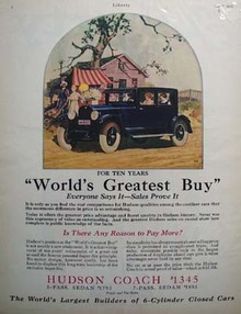Hudson Coach World's Greatest Ad 1925