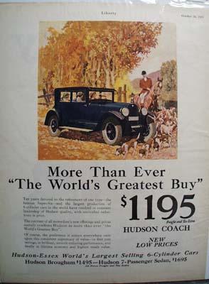 Hudson-Essex More Than Ever Ad 1925