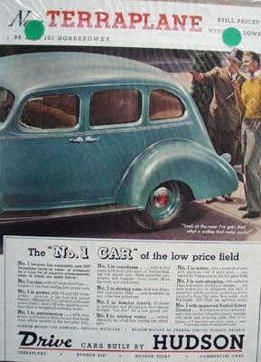 Hudson's No 1 Car Terraplane Ad 1936