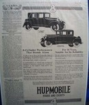 Hupmobile Performance Stands Alone Ad 1925