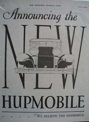 Hupmobile Line of Sixes Ad 1927