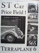 Hudson's Terraplane Low Price Field Ad 1934 ad
