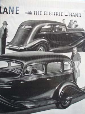 Hudson Terraplane Electric Hand Ad 1935