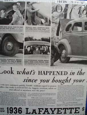 LaFayette Look Whats Happened Ad 1935