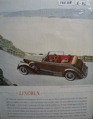 Cadillac On Storm King Highway Ad 1936