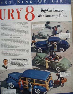 Mercury With Amazing Thrift Ad 1941