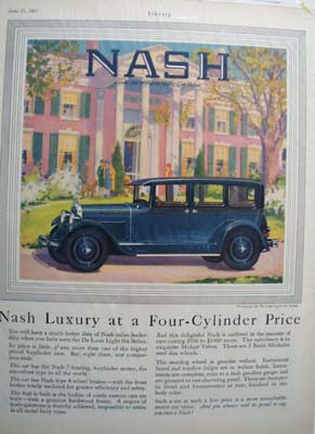 Nash Luxury At 4 Cylinder Price Ad 1927