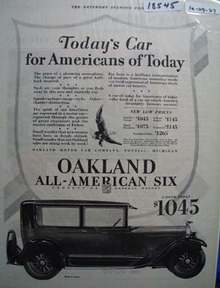 Oakland Today's' Car Ad 1927