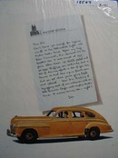 Oldsmobile & Letter to Waldorf Astoria Ad 1941