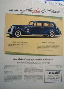 Packard One Epochal Achievement Ad 1936