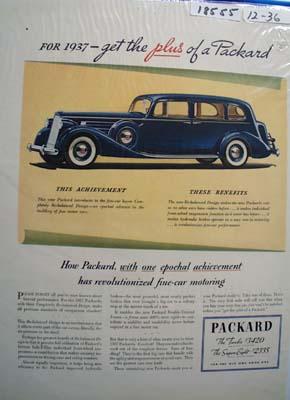 Packard One Epochal Achievement Ad 1936