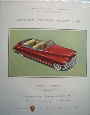 Packard Custom Eight in '48  Ad 1948