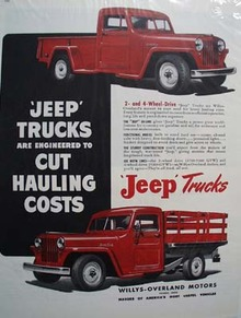 Jeep Truck Cut Hauling Costs Ad 1948