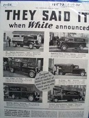 White Trucks They Said It Ad 1934