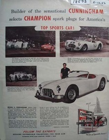 Champion Plugs for Sports Cars Ad 1952