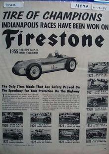 Firestone Tires Indpls Champions Ad 1958
