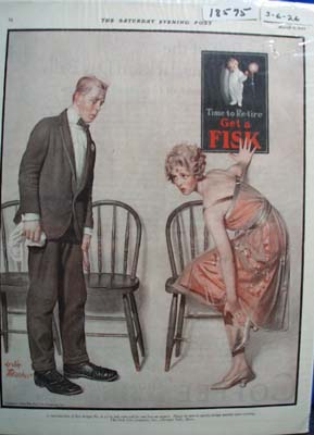 Fisk Tire Time to Retire Ad 1926
