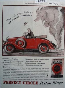 Perfect Circle Piston Rings Pig in Smoke Ad 1934