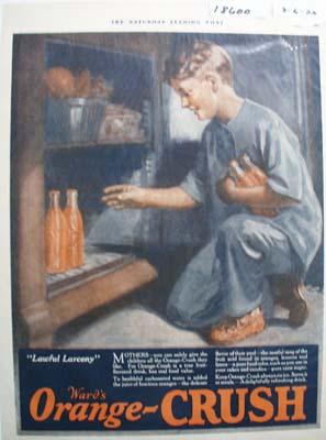 Orange Crush Lawful Larceny Ad 1926