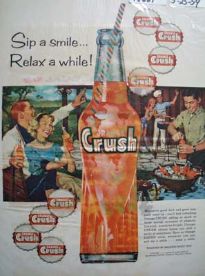 Crush Sip A Smile Ad 1959
