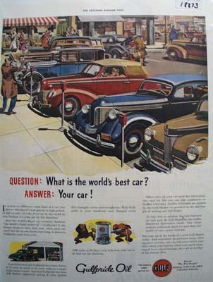 Gulfpride worlds finest oil Ad 1943.