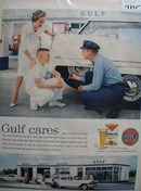 Gulfpride oil clearly the finest Ad 1959.