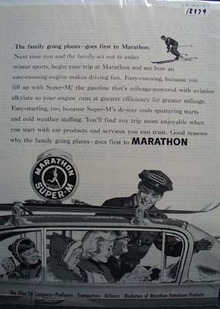 Marathon the family station Ad 1960