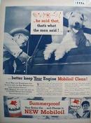 Mobiloil summerproof Ad 1946.