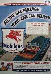 Mobilgas the high-octane gasoline Ad 1953