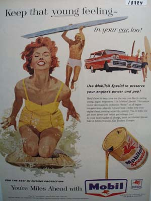Mobil keep that young feeling Ad 1958.